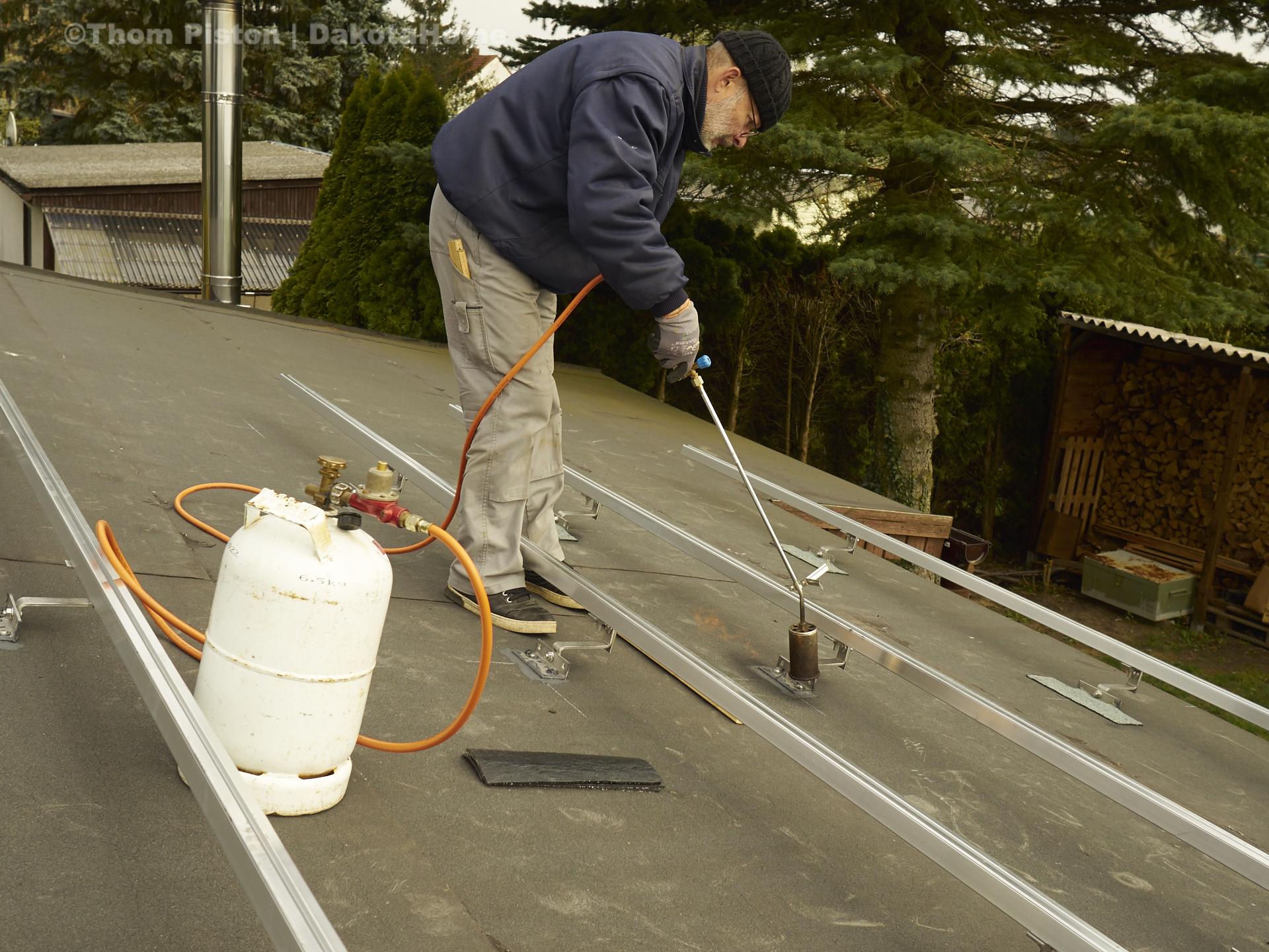 Photovoltaic anlage dakota home - alles wurde abgedichtet nach dem anschrauben