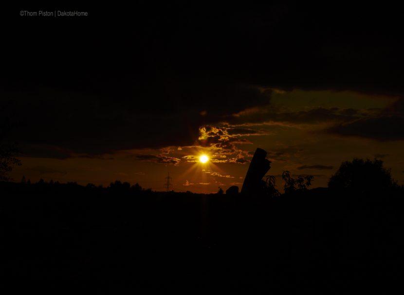 Sonnenuntergang am Dakota Home