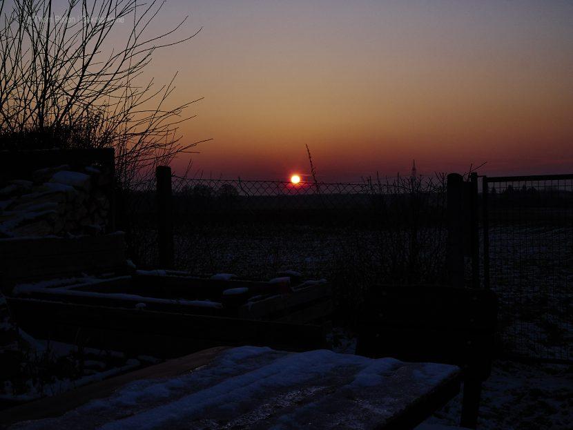 Sonnenuntergang mitte Febr. 2018 Dakota Home