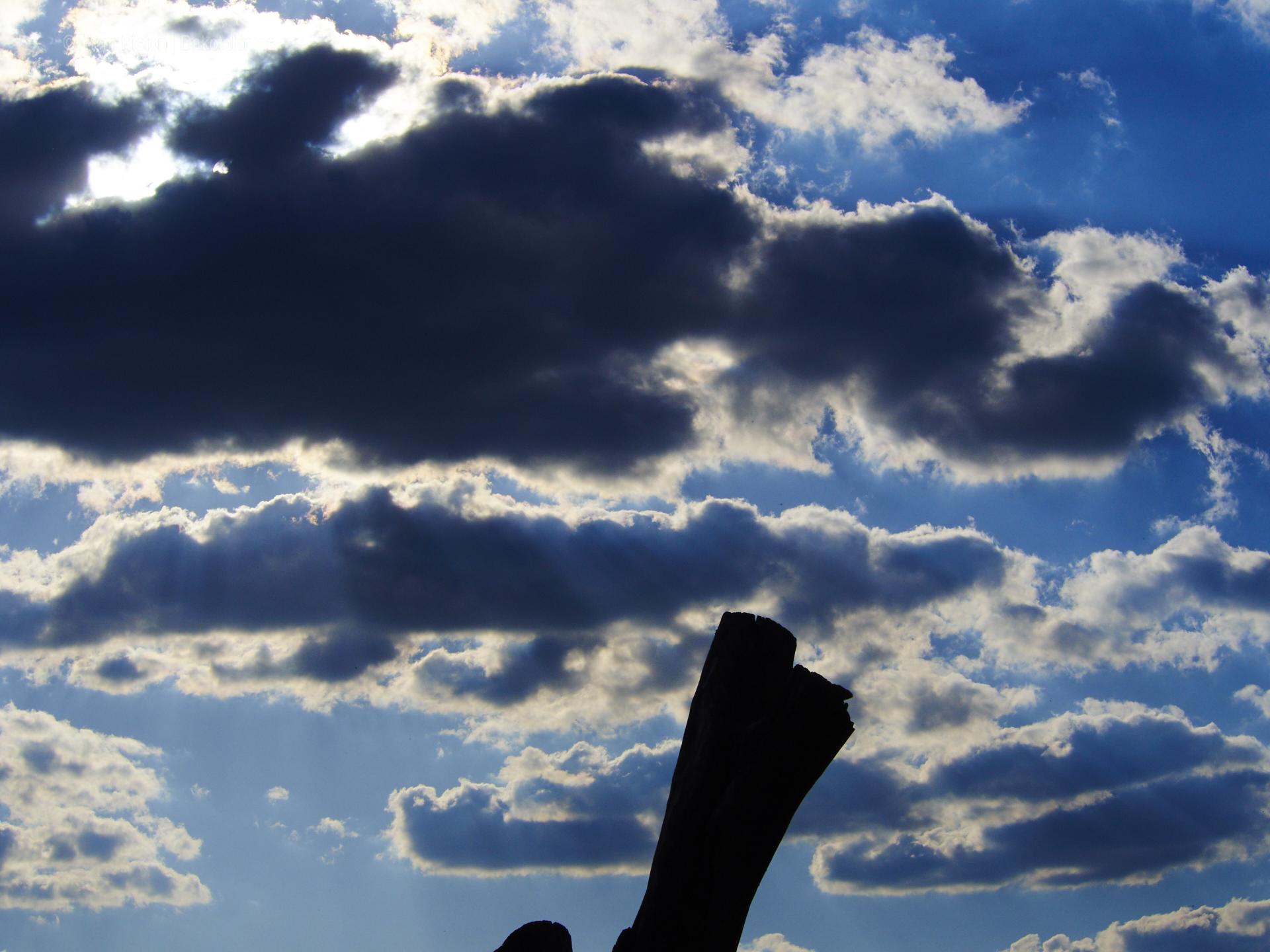 Himmel über dem Dakota Home