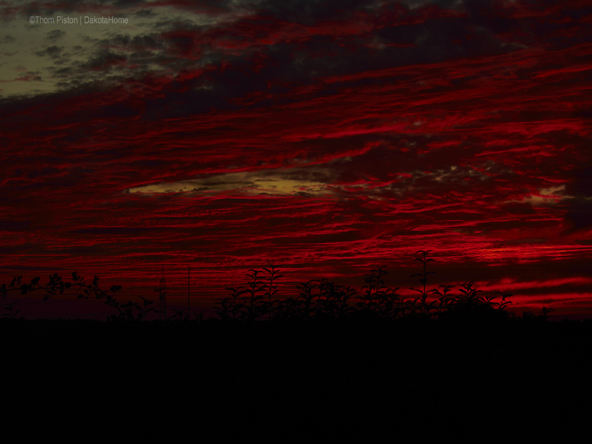 Sonnenuntergang, Dakota Home, Mitte Oktober 2018