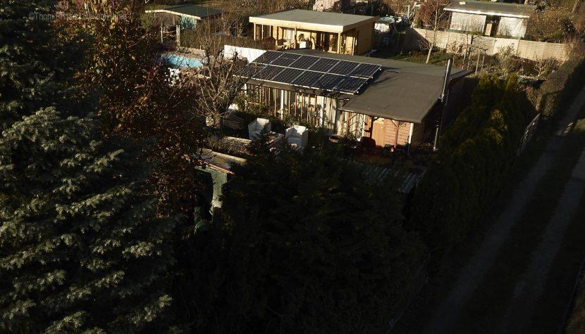 Ende November 2018, Dakota Home mit Solar | Photovoltaic Anlage und die Ponderosa von oben..