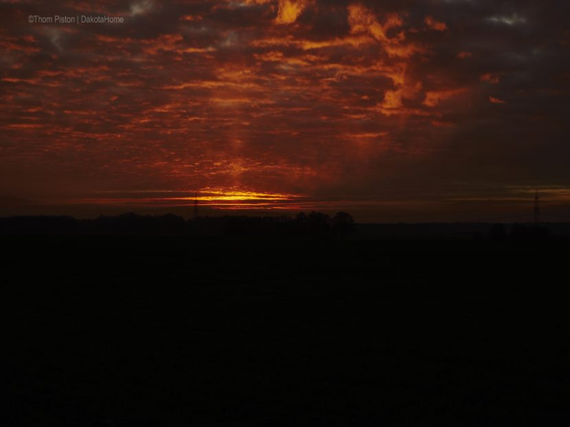 Sonnenuntergang Anfang Dezember 2018