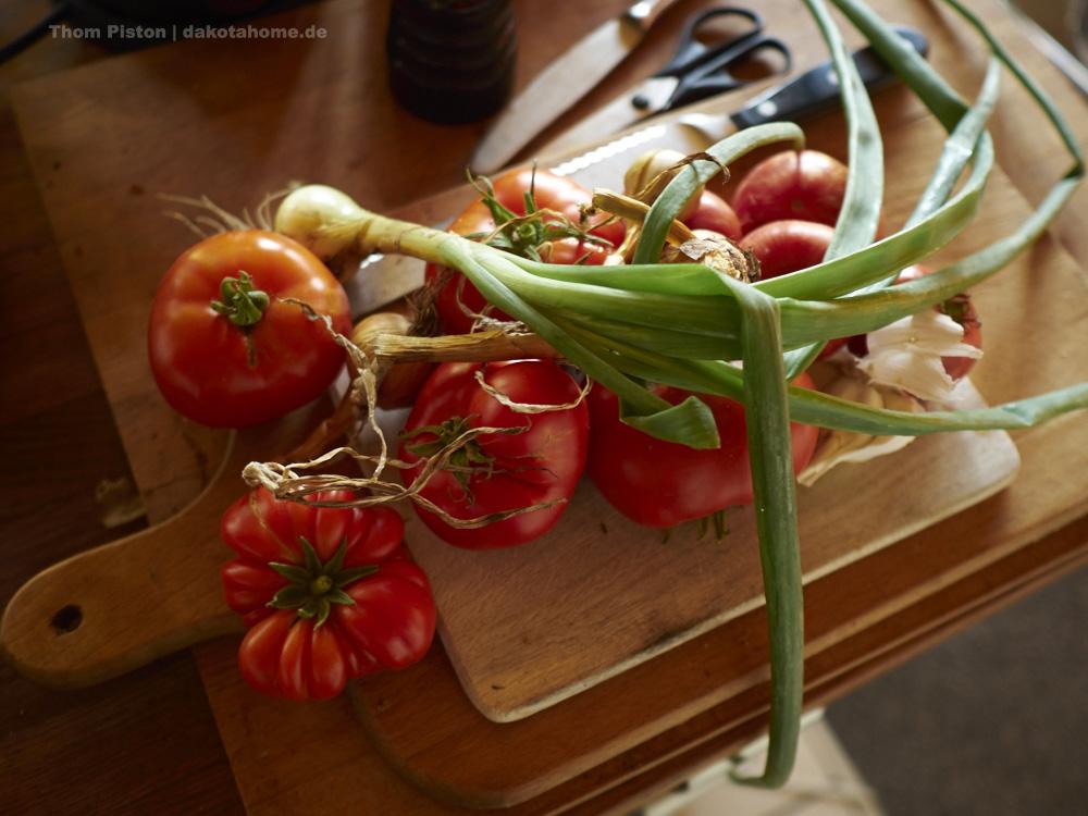 Tomaten..Paprika, Zwiebeln - Selbstversorgergarten fetzt..Ende September 2019, Dakota Home