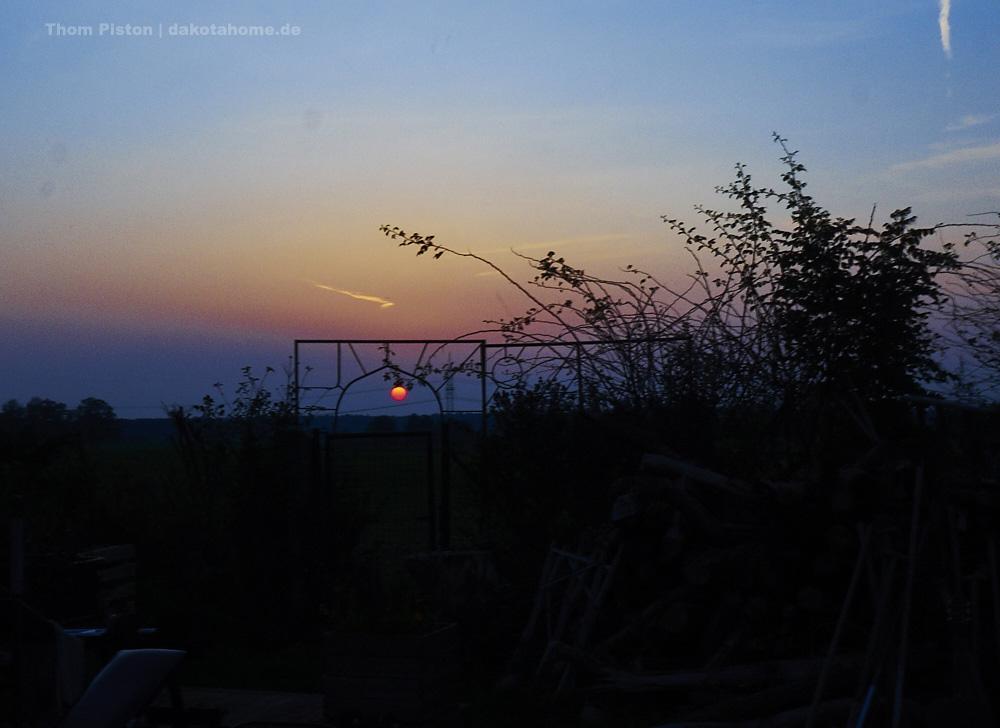 die Sonnenuntergänge am Dakota Home, tinyhouse Brandenburg